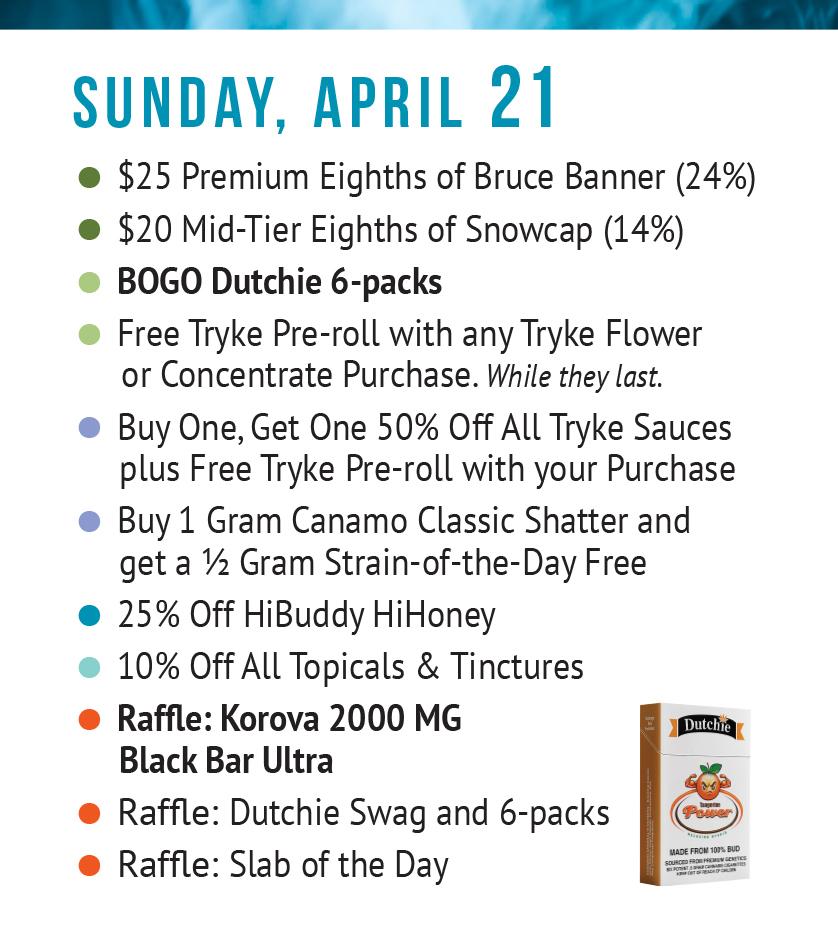Sunday Apr 21